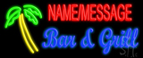 Custom Palm Tree Bar And Grill LED Neon Sign