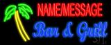 Custom Palm Tree Bar And Grill Neon Flex Sign