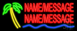 Custom Palm Tree Logo Neon Flex Sign