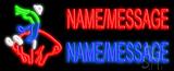 Custom Bull Rider Logo Neon Flex Sign