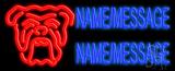 Custom Bull Dog LED Neon Sign
