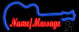 Custom Blue Guitar Neon Sign