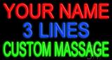 Custom Green Massage LED Neon Sign