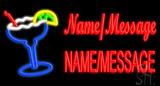 Custom Name Margarita Glass LED Neon Sign
