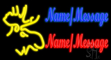 Custom Moose Head LED Neon Sign