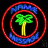Custom Palm Tree With Circle LED Neon Sign