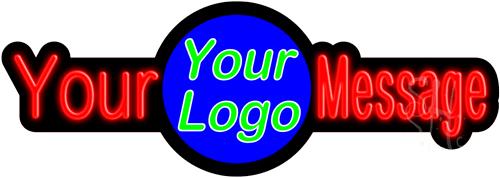 Custom Center Logo LED Neon Sign