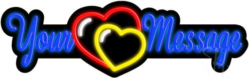 Custom Heart LED Neon Sign