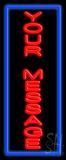 Custom Vertical Blue Border Neon Sign