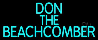Blue Don The Beachcomber Tiki Bar LED Neon Sign