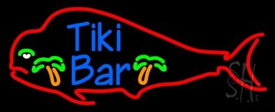 Dolphin Tiki Bar LED Neon Sign