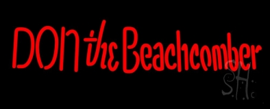 Red Donthe Beachcomber LED Neon Sign