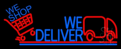 We Deliver With Van LED Neon Sign