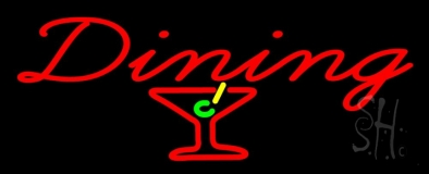 Dining With Martini Glass LED Neon Sign