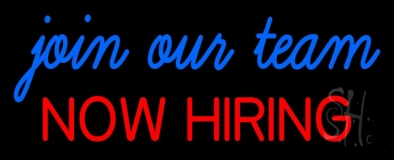 Join Our Team We Are Hiring LED Neon Sign