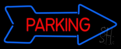 Parking With Arrow LED Neon Sign