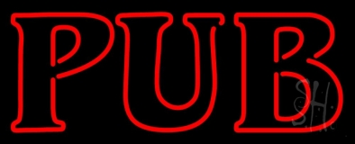 Pub Red LED Neon Sign
