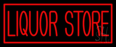 Rectange Liquor Store LED Neon Sign