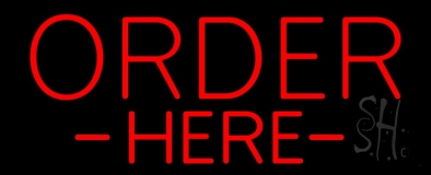 Red Order Here LED Neon Sign