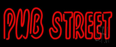 Red Pub Street LED Neon Sign