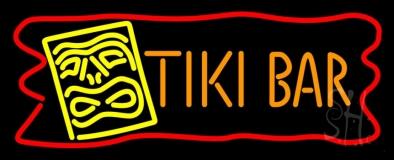 Tiki Bar with Logo LED Neon Sign