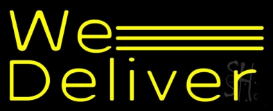 Yellow We Deliver LED Neon Sign