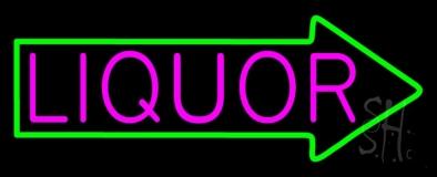 Liquor With Arrow LED Neon Sign