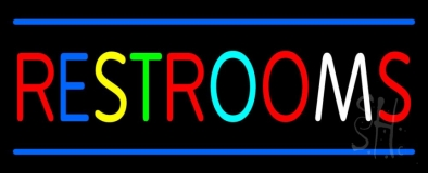 Multicolored Restrooms LED Neon Sign