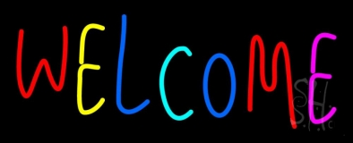 Multi Colored Welcome Bar LED Neon Sign