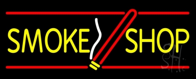 Smoke Shop With Cigar LED Neon Sign