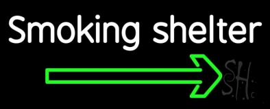 Smoking Shelter LED Neon Sign