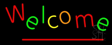 Multi Colored Welcome LED Neon Sign