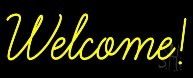 Welcome LED Neon Sign