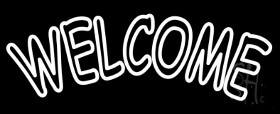 White Welcome LED Neon Sign
