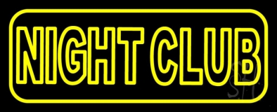 Yellow Night Club LED Neon Sign