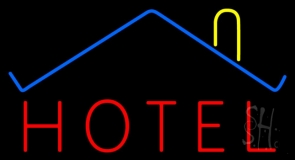 Hotel With Symbol LED Neon Sign