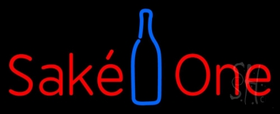 Sake One With Bottle LED Neon Sign