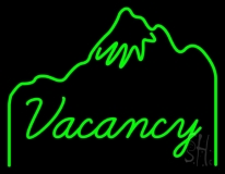 Green Vacancy LED Neon Sign