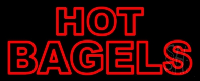 Hot Bagels Double Stroke LED Neon Sign