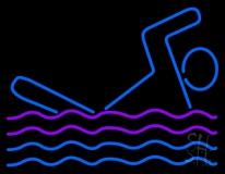 Man Swimming LED Neon Sign