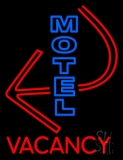 Motel Vacancy With Arrow LED Neon Sign