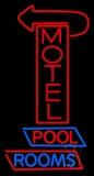 Red Motel With Arrow LED Neon Sign