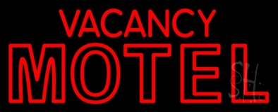 Red Vacancy Motel LED Neon Sign