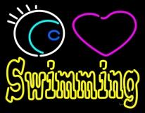Swimming Yellow LED Neon Sign