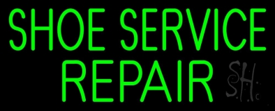 Green Shoe Service Repair LED Neon Sign