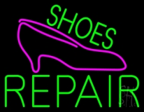 Green Shoes Repair Pink Sandal LED Neon Sign