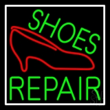 Green Shoes Repair Red Sandal LED Neon Sign