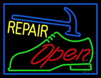 Green Shoe Yellow Repair Open LED Neon Sign