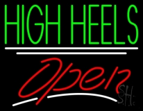 High Heels Open LED Neon Sign