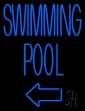 Swimming Pool With Arrow LED Neon Sign